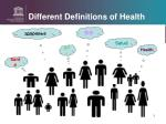 different definitions of health
