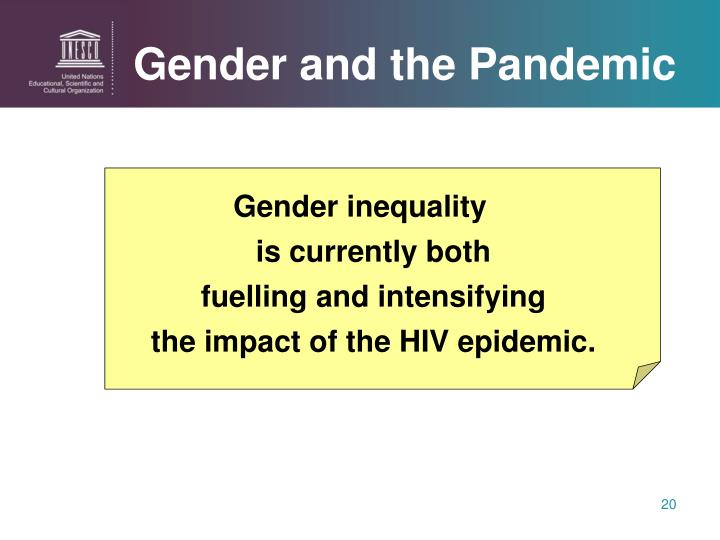 Gender and the Pandemic
