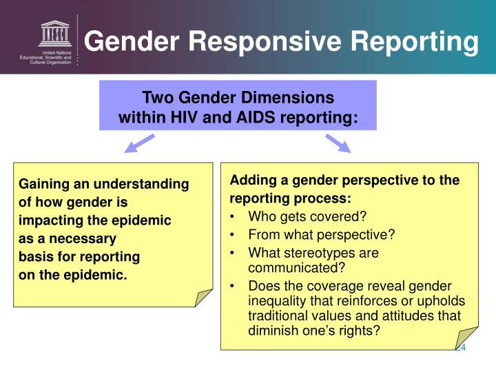 Gender Responsive Reporting