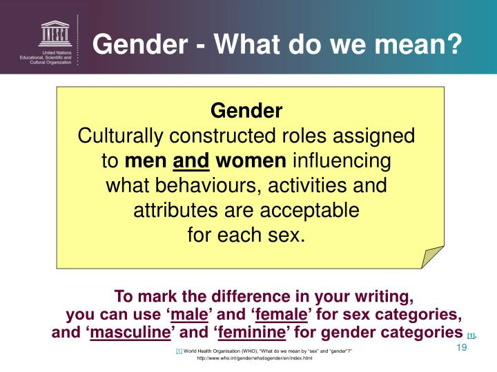 Gender - What do we mean?