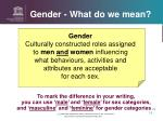 gender what do we mean1