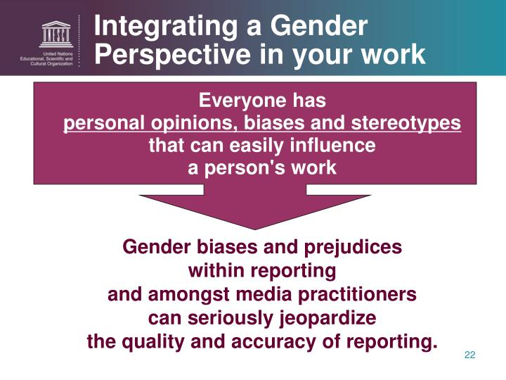 Integrating a Gender Perspective in your work