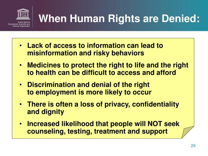 When Human Rights are Denied: