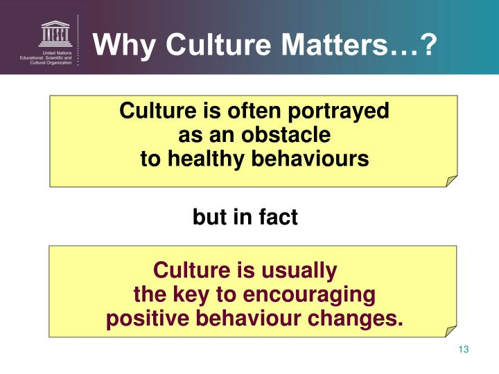 Why Culture Matters…?