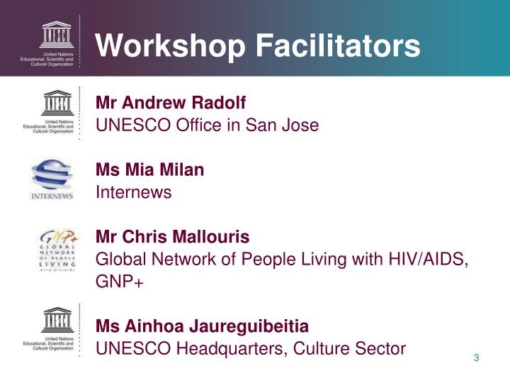 Workshop facilitators
