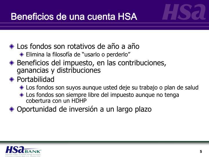 Beneficios de una cuenta HSA