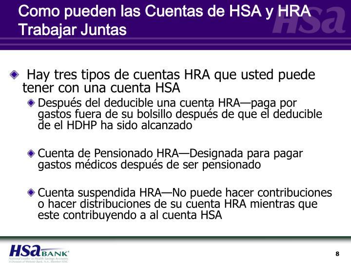 Como pueden las Cuentas de HSA y HRA Trabajar Juntas