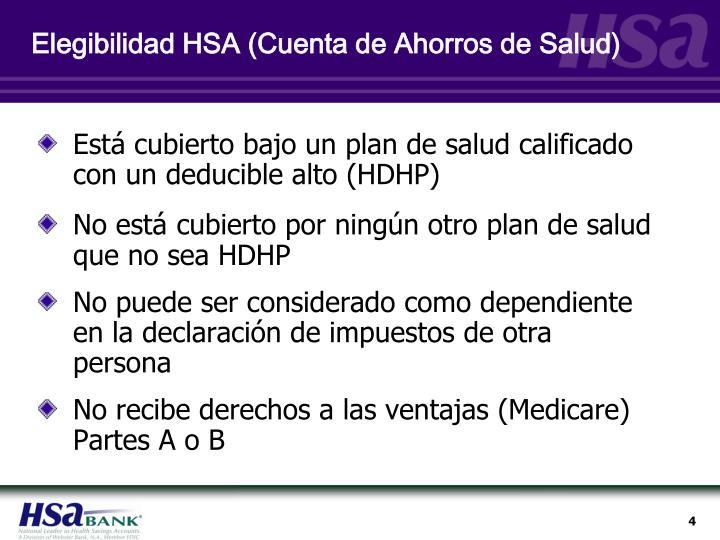 Elegibilidad HSA (Cuenta de Ahorros de Salud)
