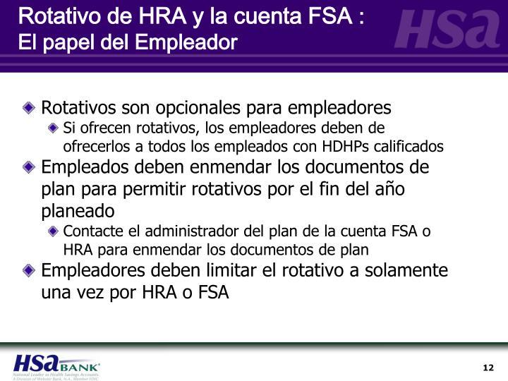 Rotativo de HRA y la cuenta FSA