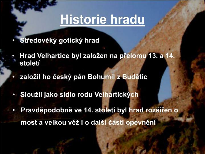 Historie hradu