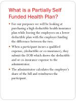 what is a partially self funded health plan