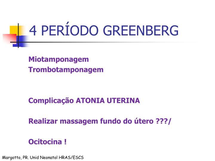 4 PERÍODO GREENBERG