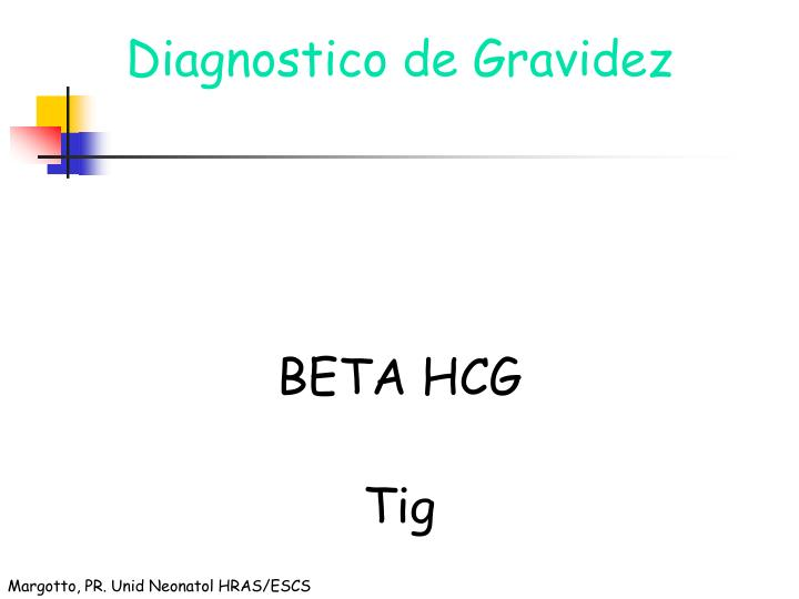 Diagnostico de Gravidez