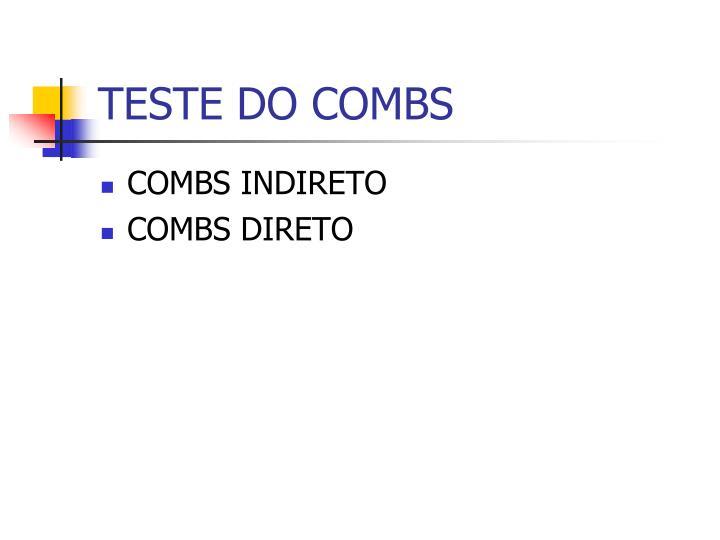 TESTE DO COMBS
