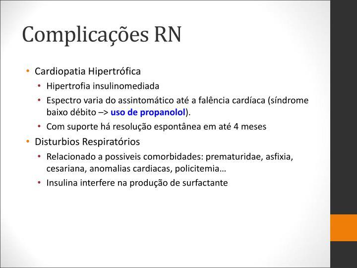 Complicações RN