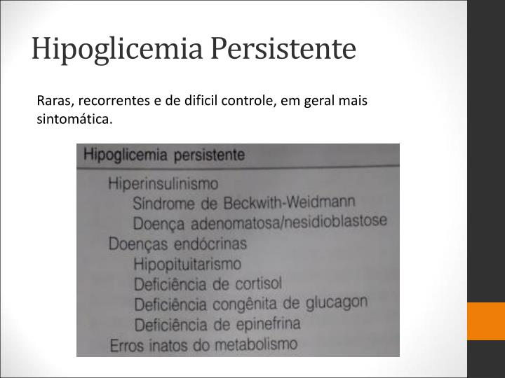 Hipoglicemia Persistente