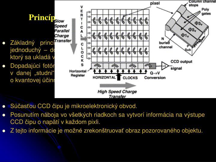 Princíp CCD obvodu