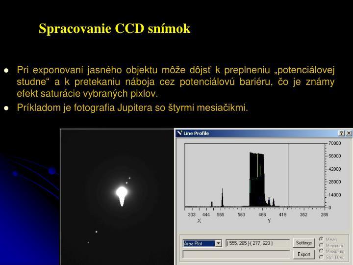Spracovanie CCD snímok