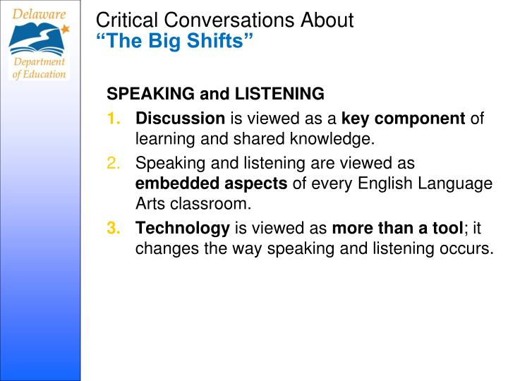 Critical Conversations About
