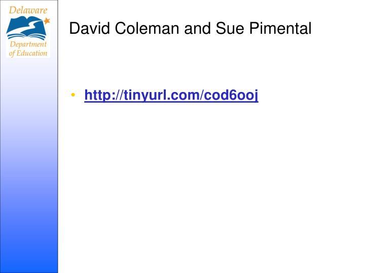 David Coleman and Sue