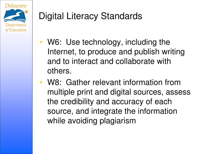 Digital Literacy Standards