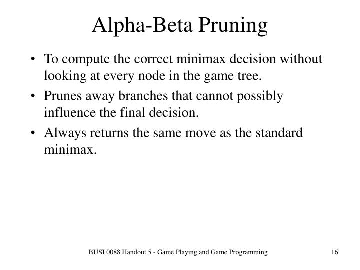 Alpha-Beta Pruning
