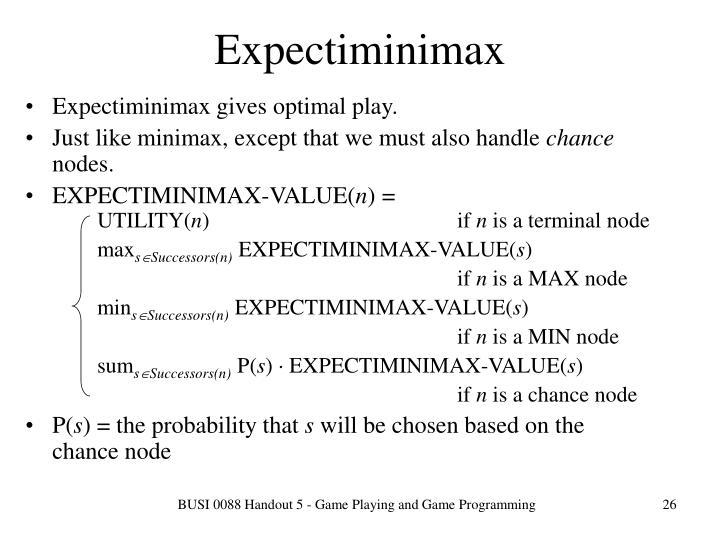 Expectiminimax