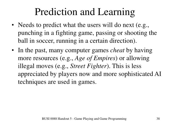 Prediction and Learning