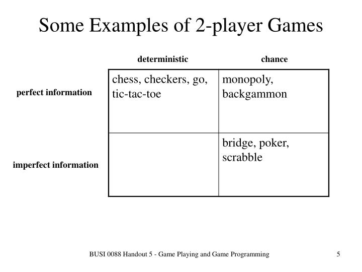 Some Examples of 2-player Games