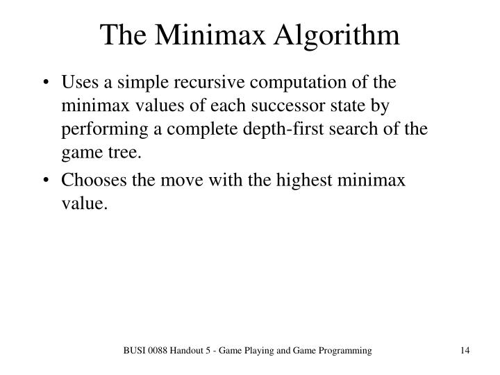 The Minimax Algorithm