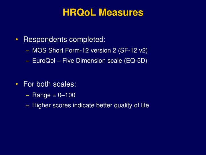 HRQoL Measures