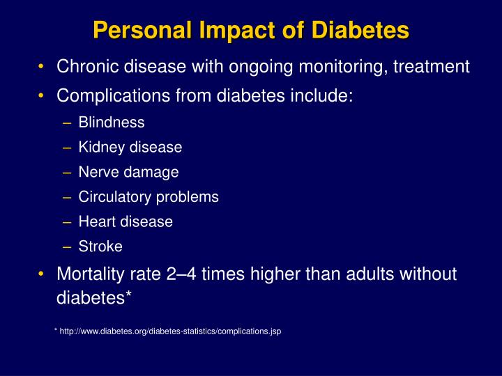 Personal Impact of Diabetes
