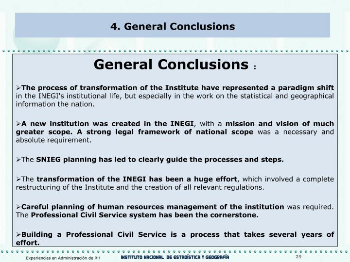 4. General Conclusions