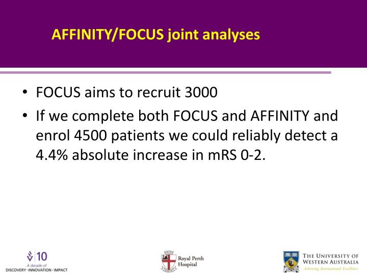 AFFINITY/FOCUS joint analyses
