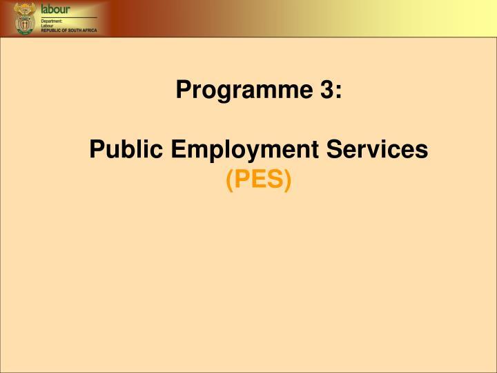 Programme 3: