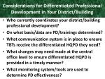 considerations for differentiated professional development in your district building