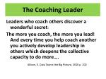 the coaching leader