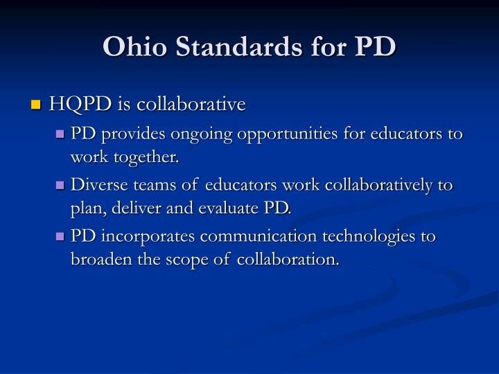 Ohio Standards for PD