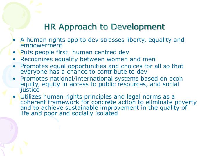 HR Approach to Development