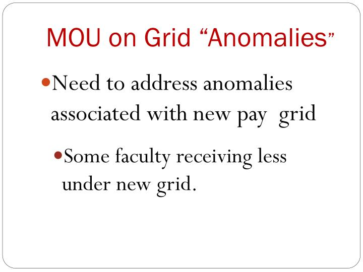 Mou on grid anomalies
