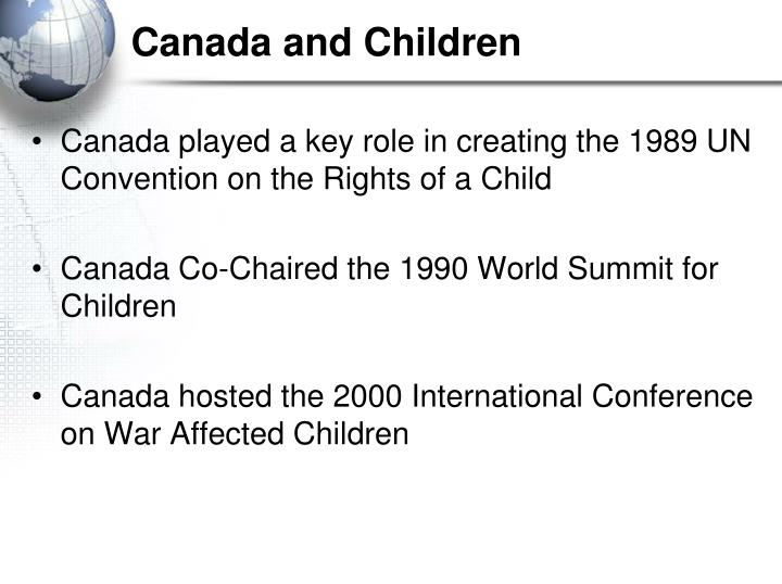 Canada and Children