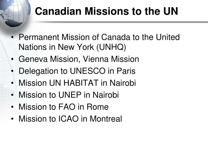 Canadian Missions to the UN