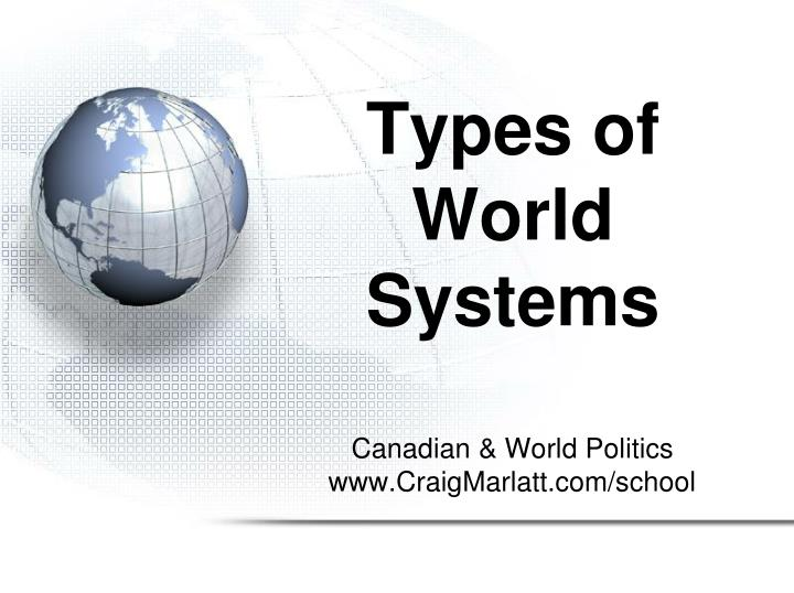 Types of world systems