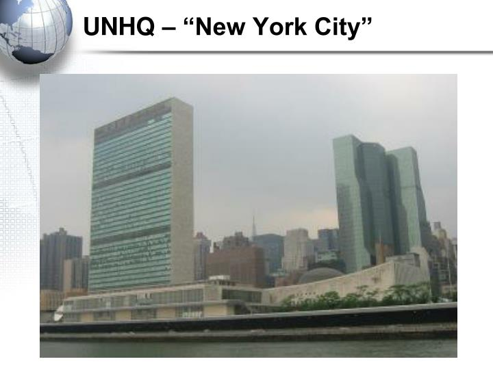 "UNHQ – ""New York City"""
