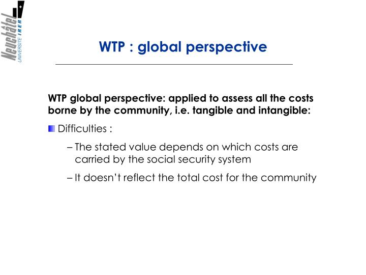 WTP : global perspective