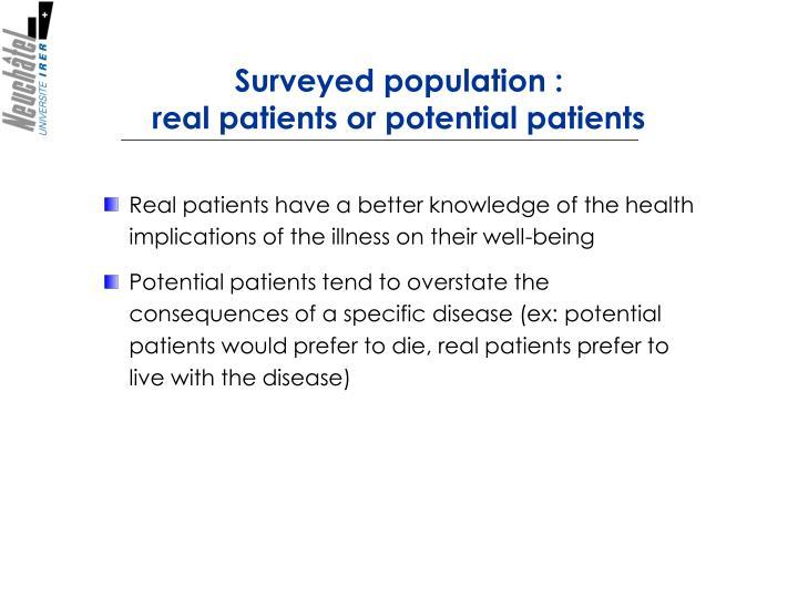 Surveyed population: