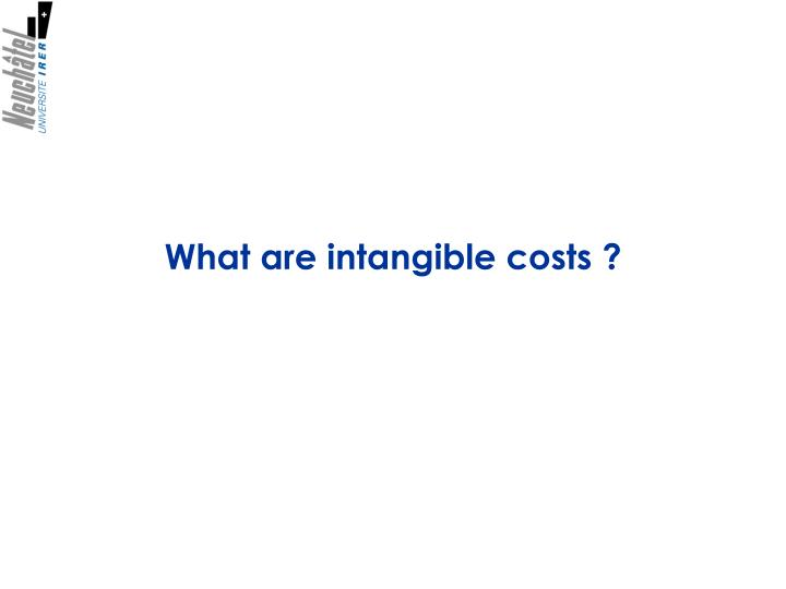 What are intangible costs ?