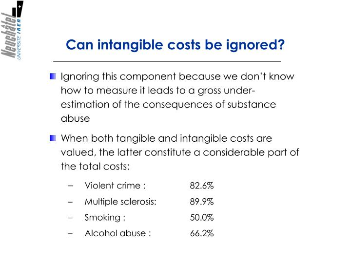 Can intangible costs be ignored?
