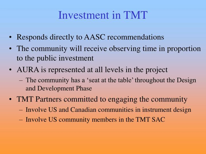 Investment in TMT