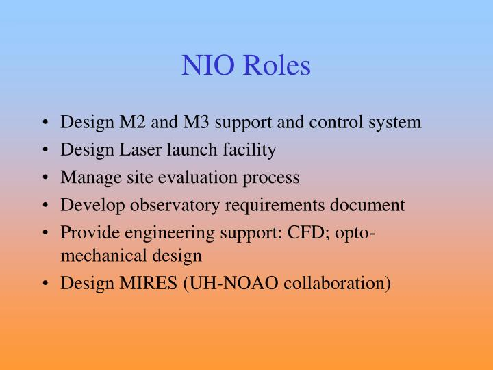 NIO Roles